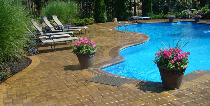 Long island masonry pool design patio contractor new york for Pool design long island ny