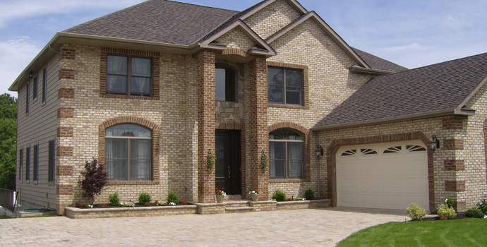 What is the average price of brick veneer siding for a for Brick stone siding